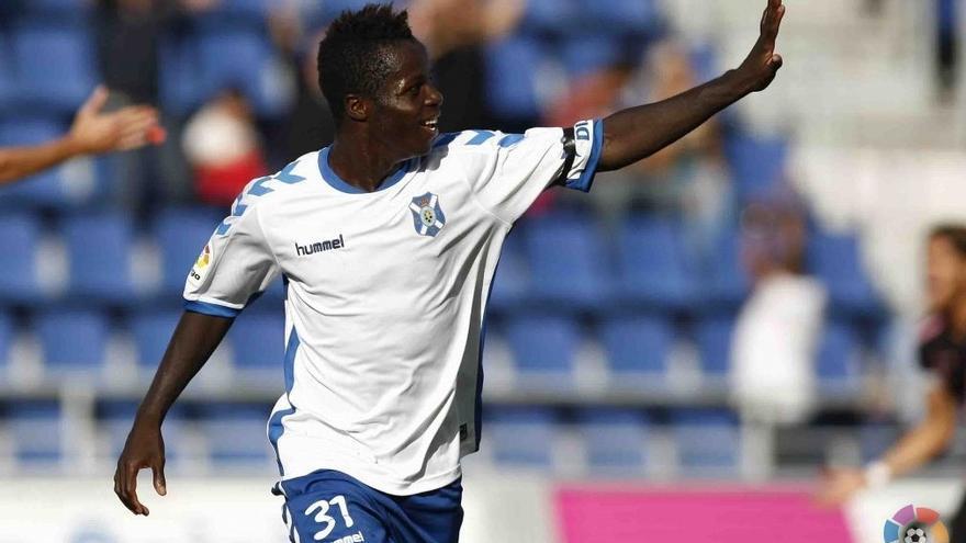El jugador deldel CD Tenerife Amath N'Diaye.