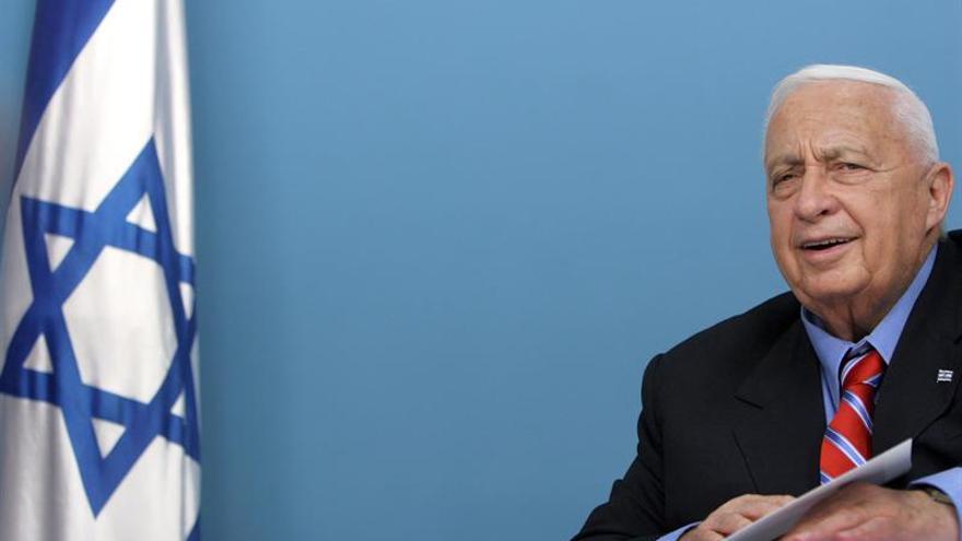 Ariel Sharon durante una de sus últimas comparecencias públicas en 2005.