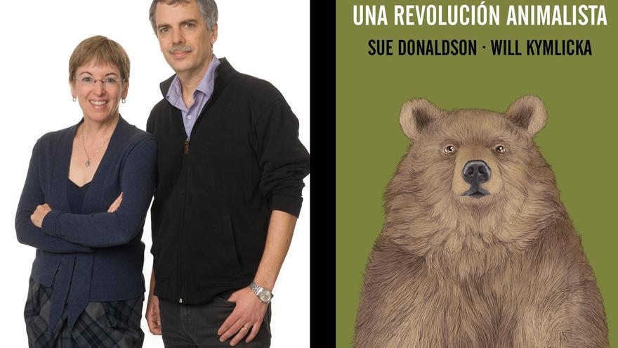 Portada y autores del libro: 'Zoópolis, una revolución animalista'