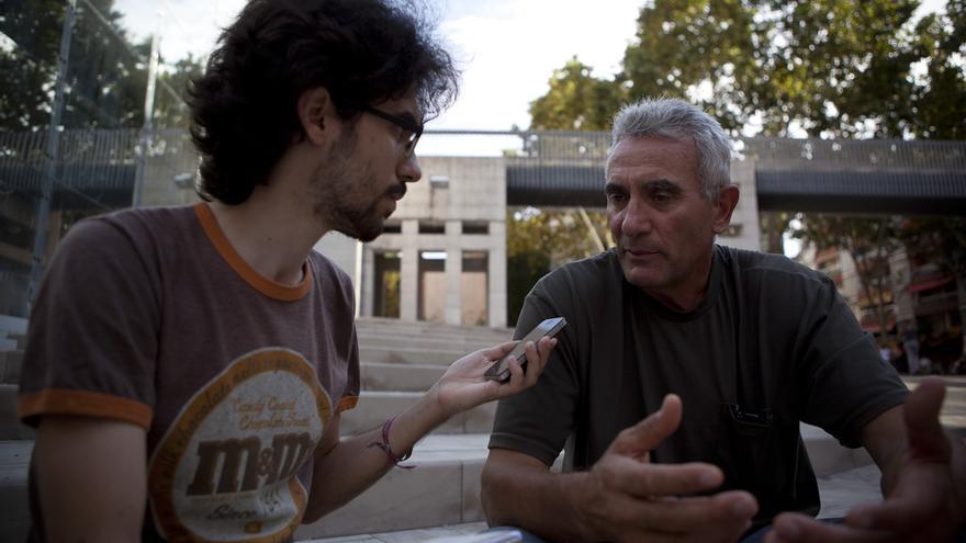 Diego Cañamero en el centro cívico Cotxeres de Sants de Barcelona / Enric Català
