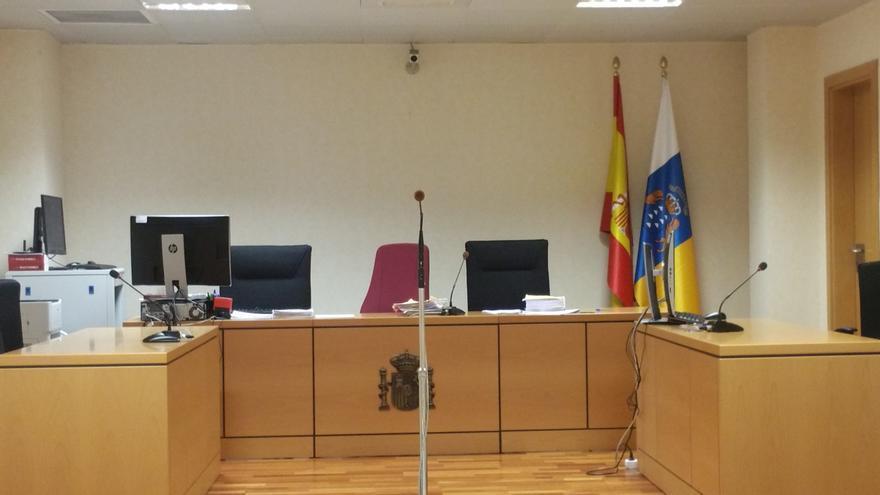 Sala del Juzgado de lo Penal número 7 de Santa Cruz de La Palma donde se celebró este jueves la vista oral.
