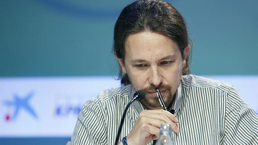 Iglesias, durante su ponencia en el Cercle d'Economía.
