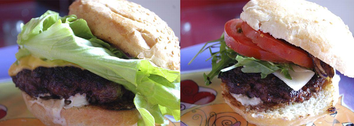 Díptico hamburguesa clásica y de setas_Burguer Lab_Malasaña a mordiscos