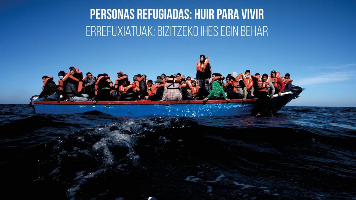 Cartel de la exposición 'Personas refugiadas: huir para vivir'