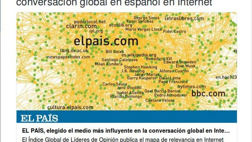 Publicación del director de El País, Antonio Caño, en su cuenta de Twitter.
