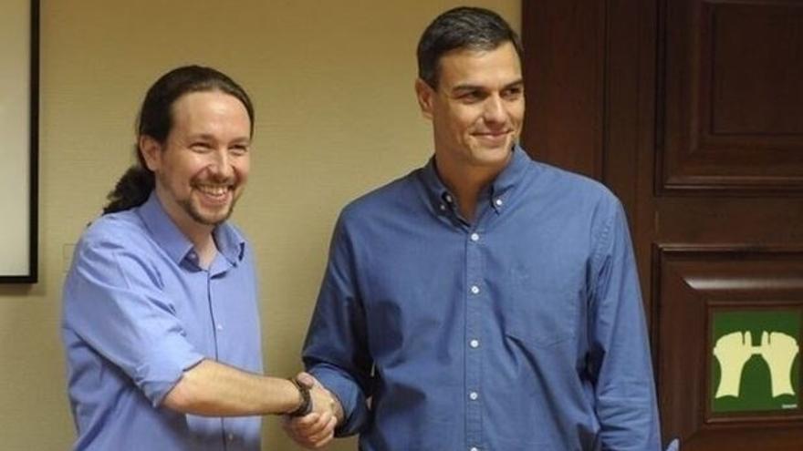 Sánchez e Iglesias, de acuerdo con una comisión que aborde la cuestión catalana entre todas las fuerzas políticas