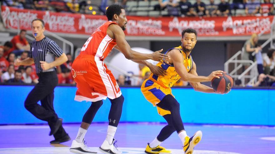 Los grancanarios no pudieron sacar un resultado positivo en el Palacio de los Deportes de Murcia