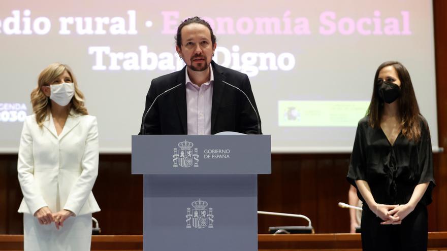Iglesias insta a Díaz y a Belarra a seguir luchando por el interés general