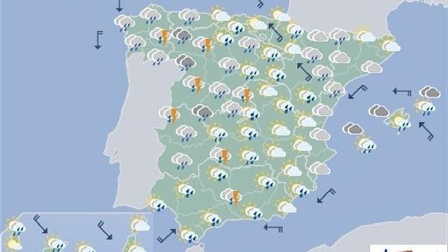 Hoy, continúan nubosidad y lluvias generalizadas en toda la península