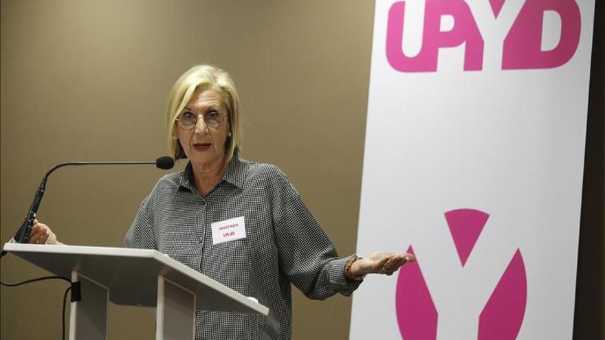 La fundadora de UPyD Rosa Díez cerrará la lista de Madrid por aclamación