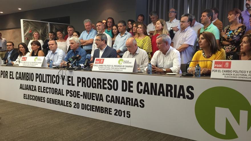 PSOE de Canarias y NC sellan su alianza electoral para vencer a la derecha y conseguir el cambio político