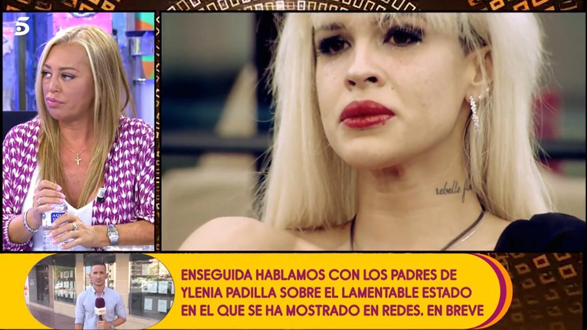 """Belén Esteban responde a Ylenia desde 'Sálvame': """"Ahora hay que dejarla porque está en brote"""""""