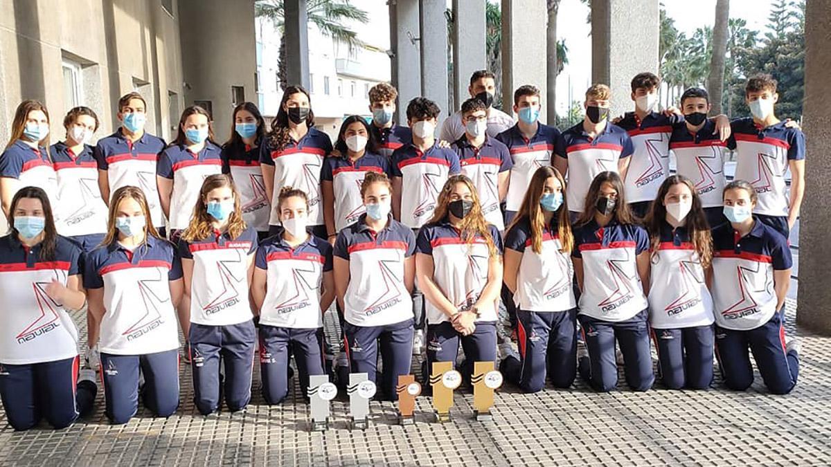 Representantes del Navial en el Andaluz.