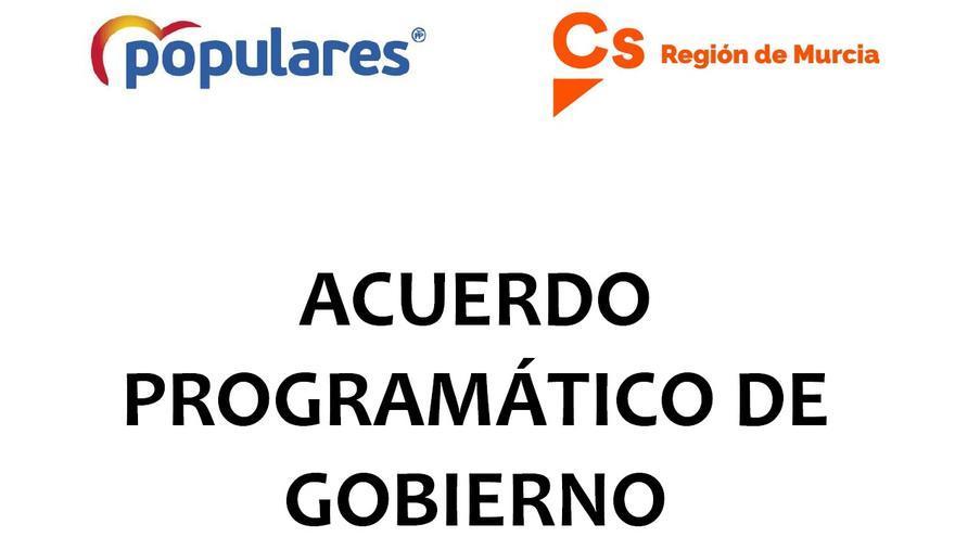 Acuerdo programático de PP y Cs