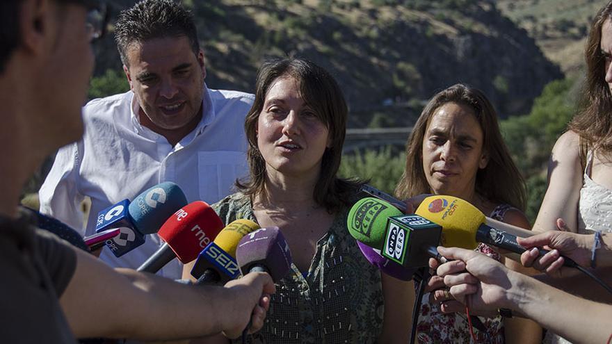 Comparecencia conjunta en defensa del río Tajo / Foto: Ganemos Toledo