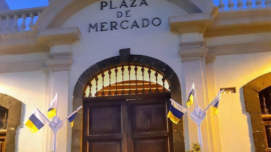 La Recova ha sido decorada con motivo del Día de Canarias.