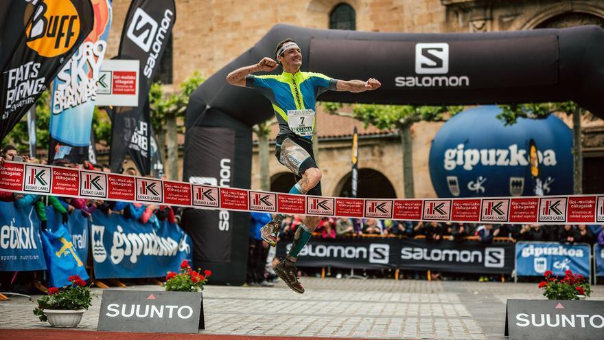 Tadei Pivk, ganador de la Zegama-Aizkorri 2015 (© Jordi Saragossa).