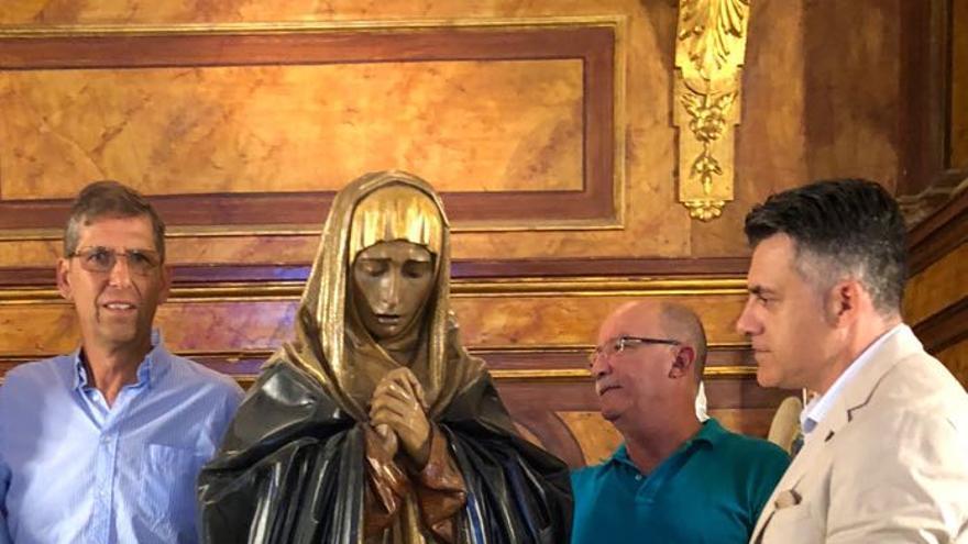 Cultura restaurará la talla de la Virgen de la Soledad de los Pobres de la Cofradía Marraja de Cartagena