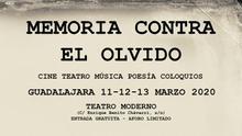 Poesía, cine y teatro: 'Memoria contra el Olvido' en el Teatro Moderno de Guadalajara