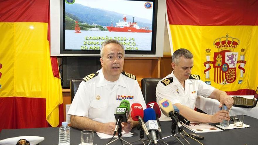 Javier Moreno, capitán del buque 'Hespérides', este martes. (Efe)