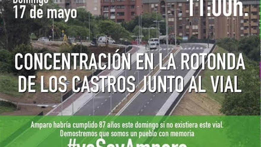 'Amparo habría cumplido 87 años si no existiera este vial', reza el cartel de la convocatoria.