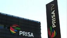 Logotipos del Grupo Prisa en una de sus sedes en Madrid