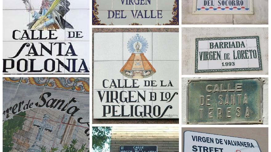 Los nombres del callejero español dedicados a mujeres son, en su mayoría, de vírgenes, monjas y santas