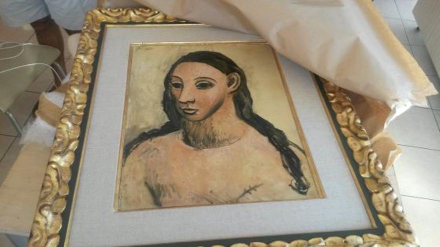 'Cabeza de mujer', de Picasso. Foto: EFE