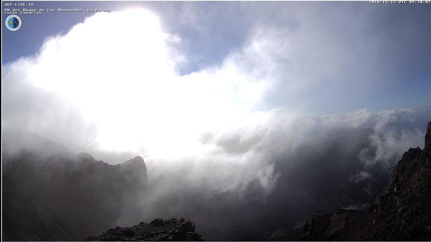 'Bárbara' deja rachas de viento de 127 kilómetros en las cumbres de La Palma y