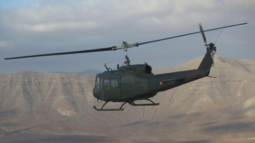 Helicóptero militar. Foto cedida.
