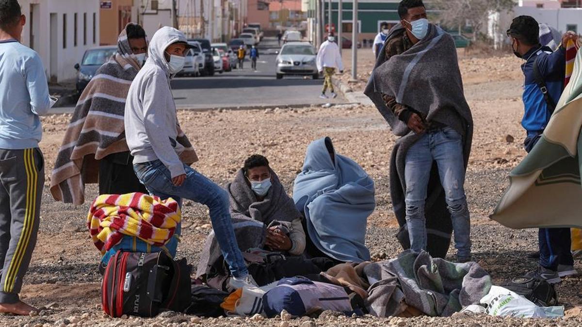 Migrantes en El Matorral, Fuerteventura