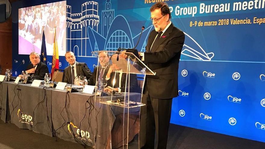 Mariano Rajoy interviene en Valencia en las jornadas organizadas por el Grupo Popular Europeo