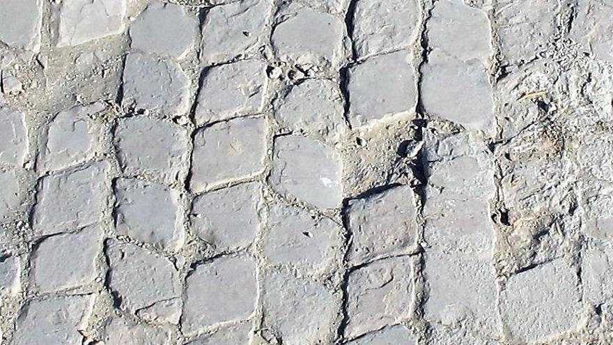 Suelo de las que fueran las termas de la ciudad romana de Caraca