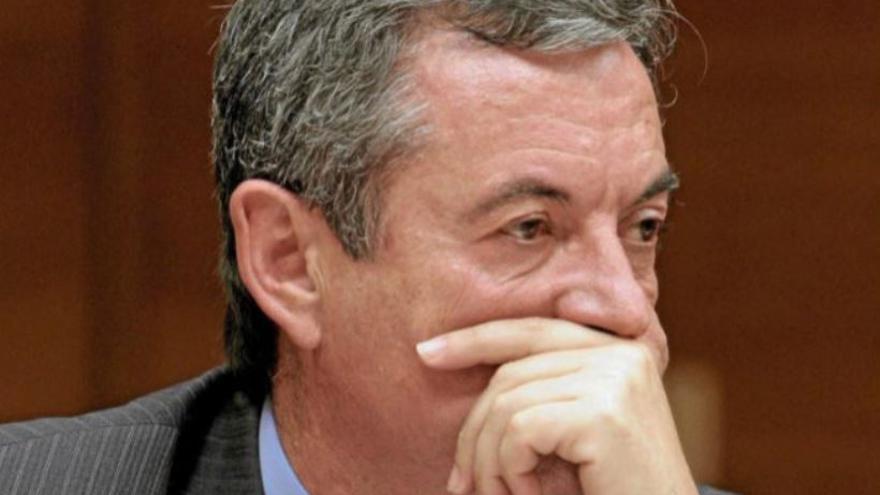 Francisco Grau Jornet durante su comparecencia en la comisión de investigación sobre la CAM en las Corts