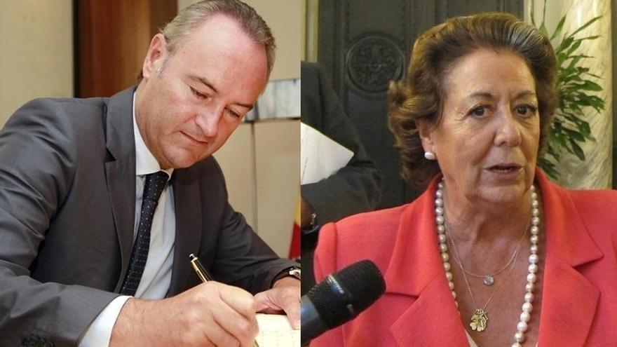 Fabra declara 50.513 euros de rendimientos de trabajo en 2013 y Barberá 102.470 euros