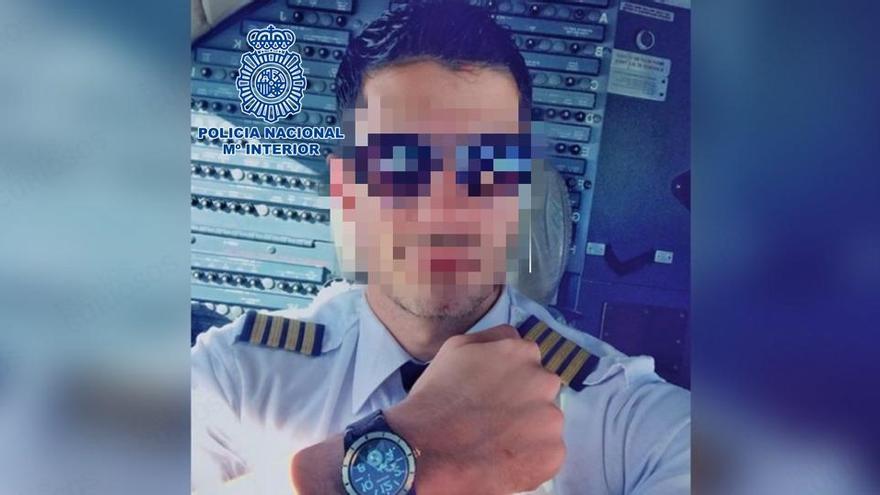 Imagen difundida por la Policía Nacional del supuesto piloto canadiense