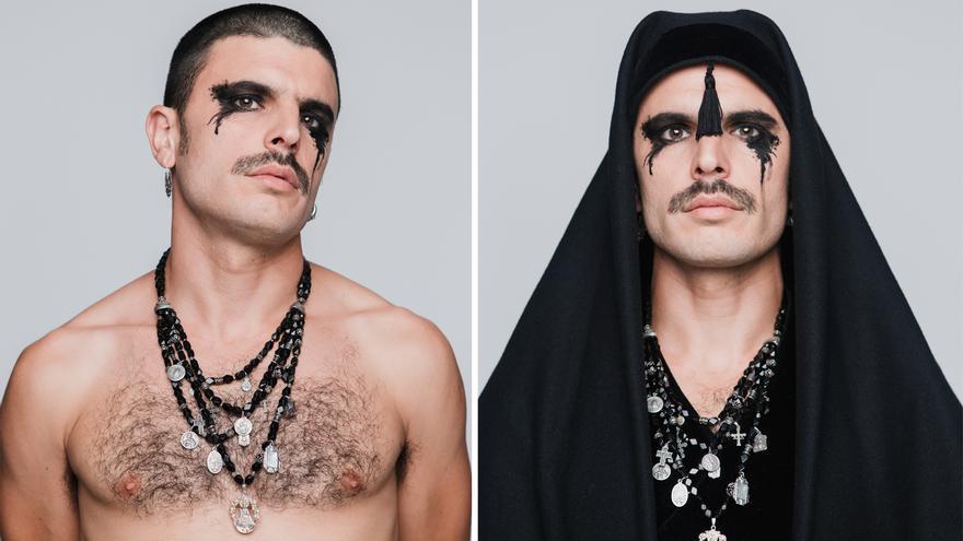 Imágenes promocionales de Rodrigo Cuevas para el disco de 'Manual de cortejo'