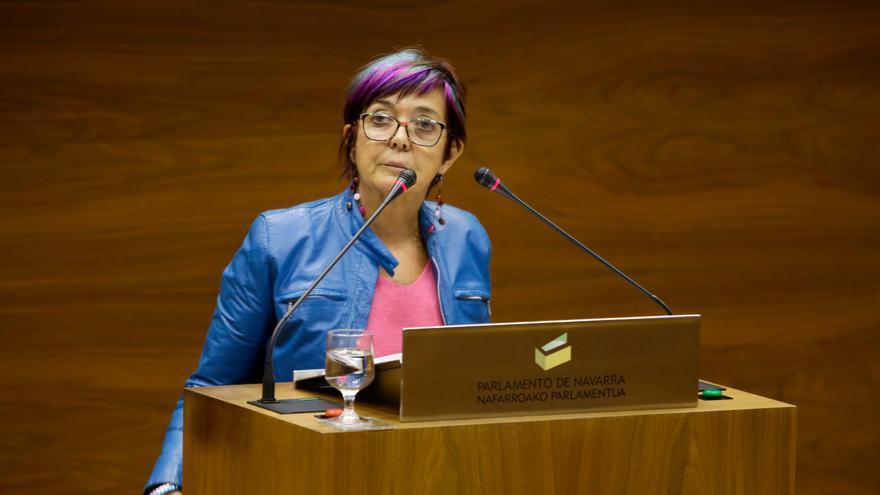 La parlamentaria de Podemos en Navarra Tere Sáez.