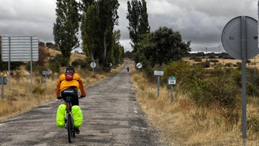 Carretera de La Toba a Jadraque, en Guadalajara