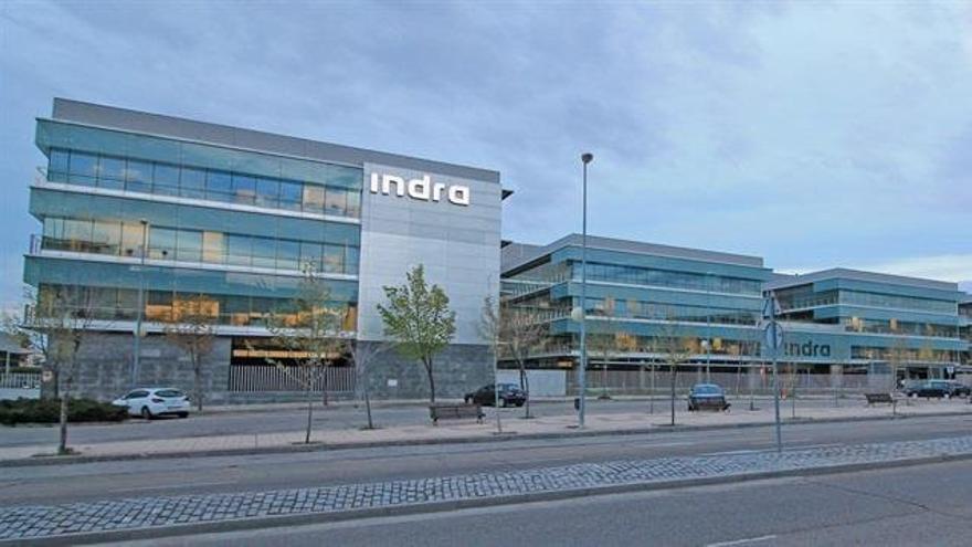 Fachada de la sede de Indra.