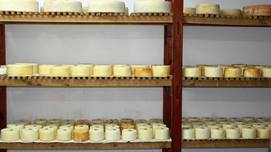 Los quesos están elaborados y madurados en cuevas.