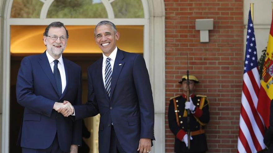 Rajoy recibe a Obama en el Palacio de la Moncloa