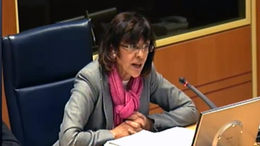 La viceconsejera de Justicia, Ana Agirre, en una intervención en el Parlamento. /EDN.