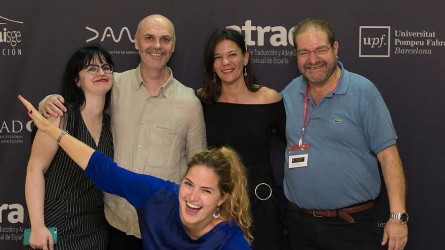Josep Llurba, segundo a la izquierda, es el presidente de ATRAE