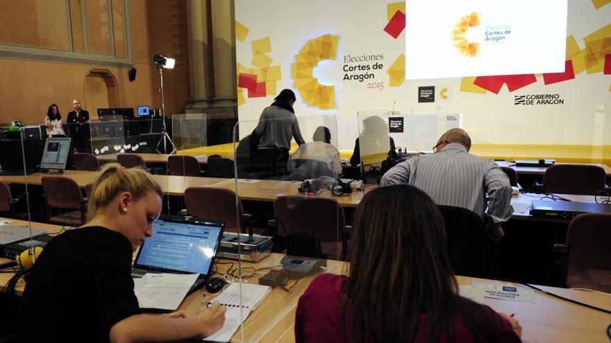 Dispositivo electoral. Foto: Gobierno de Aragón