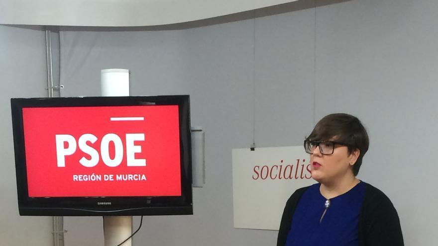 La coordinadora de campaña del PSOE y diputada regional, Presen López