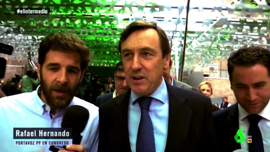 Gonzo y Rafael Hernando en El Intermedio
