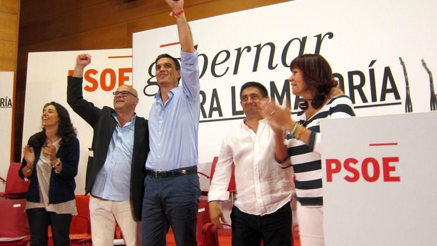 """Pedro Sánchez asegura que """"lo mejor para Jaén"""" llegará con Fernández, que promete un """"trabajo titánico"""""""