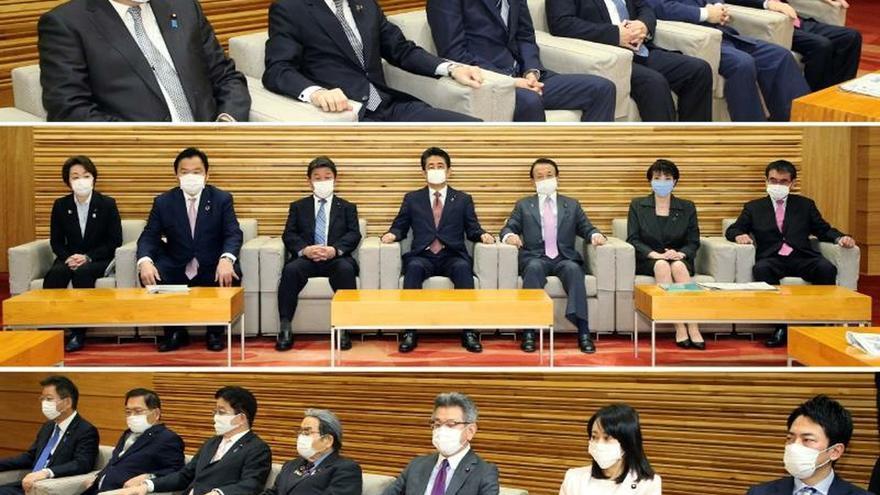Reunión del Gobierno japonés en Tokio este viernes, 3 de abril.