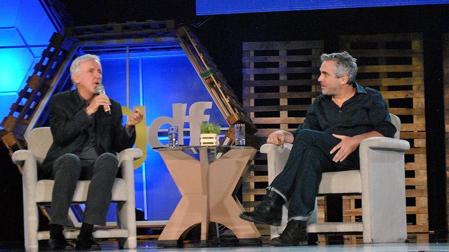 James Cameron y Alfonso Cuarón.